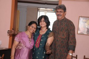 With Pappa and Meeta, 2012