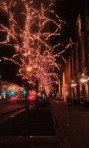 Lights on Magnificent Mile in Chicago