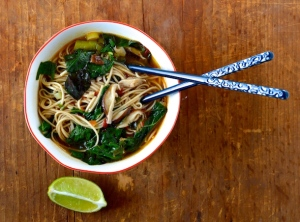 Miso Soba Noodle Soup | Picture from: www.honeyedhome.com