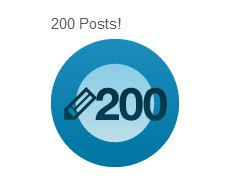 And incidentally this is my 200th post on this blog! Yayyyy